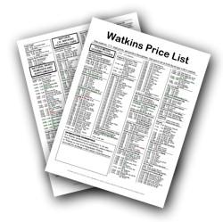 Watkins Price List